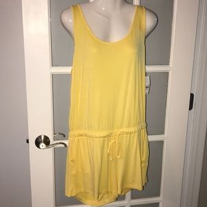 NEW YORK & CO yellow romper size L